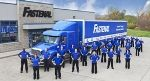 Fastenal truck and staff in front of a Fastenal branch