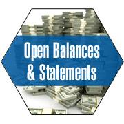 Open Balances & Statements
