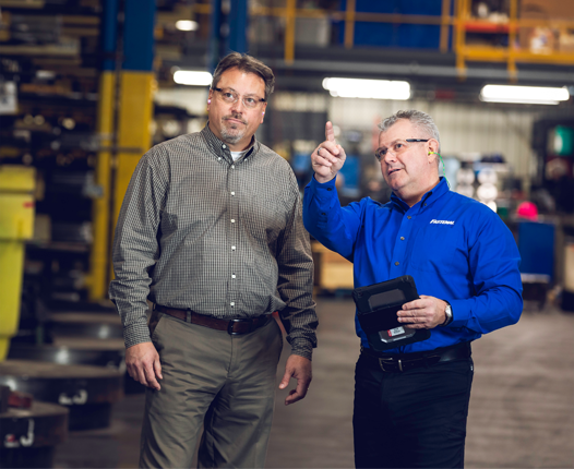 Fastenal employee with customer
