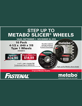 Metabo Slicer Wheels Promo