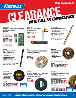 Fastenal Clearance Promotion October/November 2020