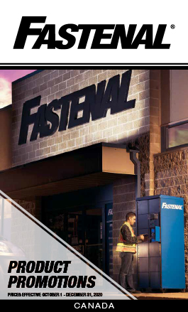 Fastenal Product Promotions. Prices Effective October 1 - December 31, 2020. Canada.