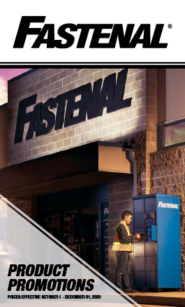 Fastenal Product Promotions. Prices Effective October 1 - December 31, 2020