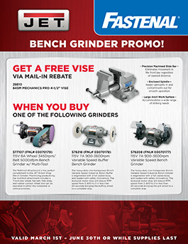JET Bench Grinder Promo