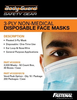 Body Guard 3 Ply Mask Promotion