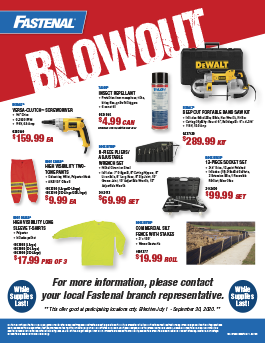 Fastenal Clearance Blowout
