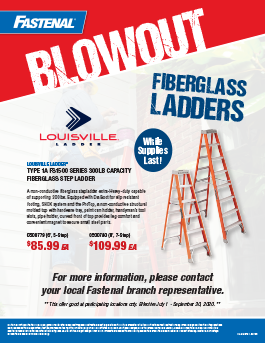 Fastenal Ladders Blowout