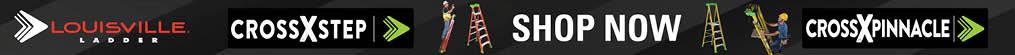louisville ladder. crossxstep. shop now. crossxpinnacle