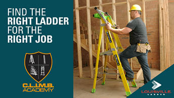 Find the right ladder for the right job. Climb Academy. Louisville Ladder