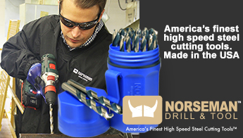 America's finest high speed steel cutting tools. Made in the USA. Norsemal Drill & Tool