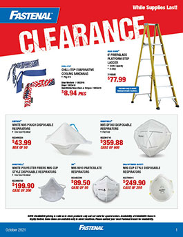October Clearance Banner