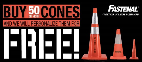 Own Your Cones Personalized Cones with Fastenal